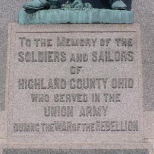 Inscription: War of the Rebellion Monument